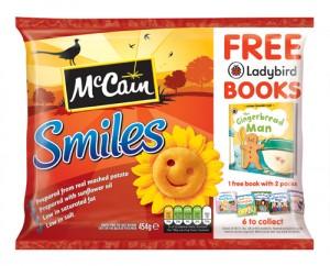 McCain Smiles, frozen mashed potato shapes