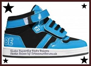 kid's velcro skate shoes