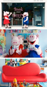 Peppa Pig at Happy Faces Hair Salon
