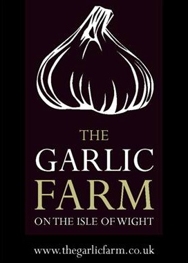 logo for the garlic farm