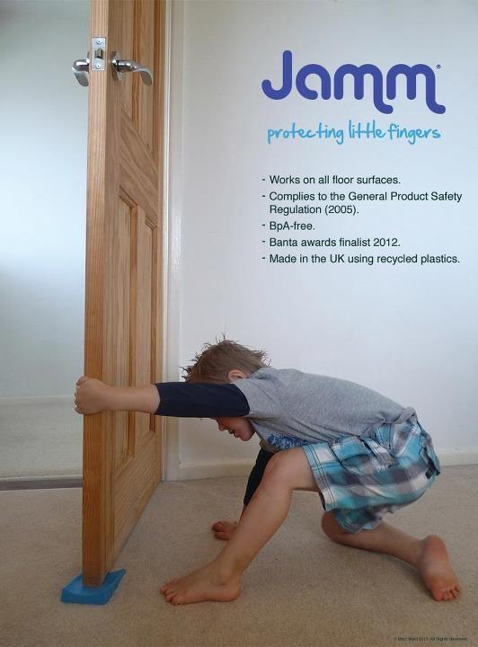 door stop to stop kids catching their fingers & Jamm Door Stop - To stop little fingers getting trapped in door ...