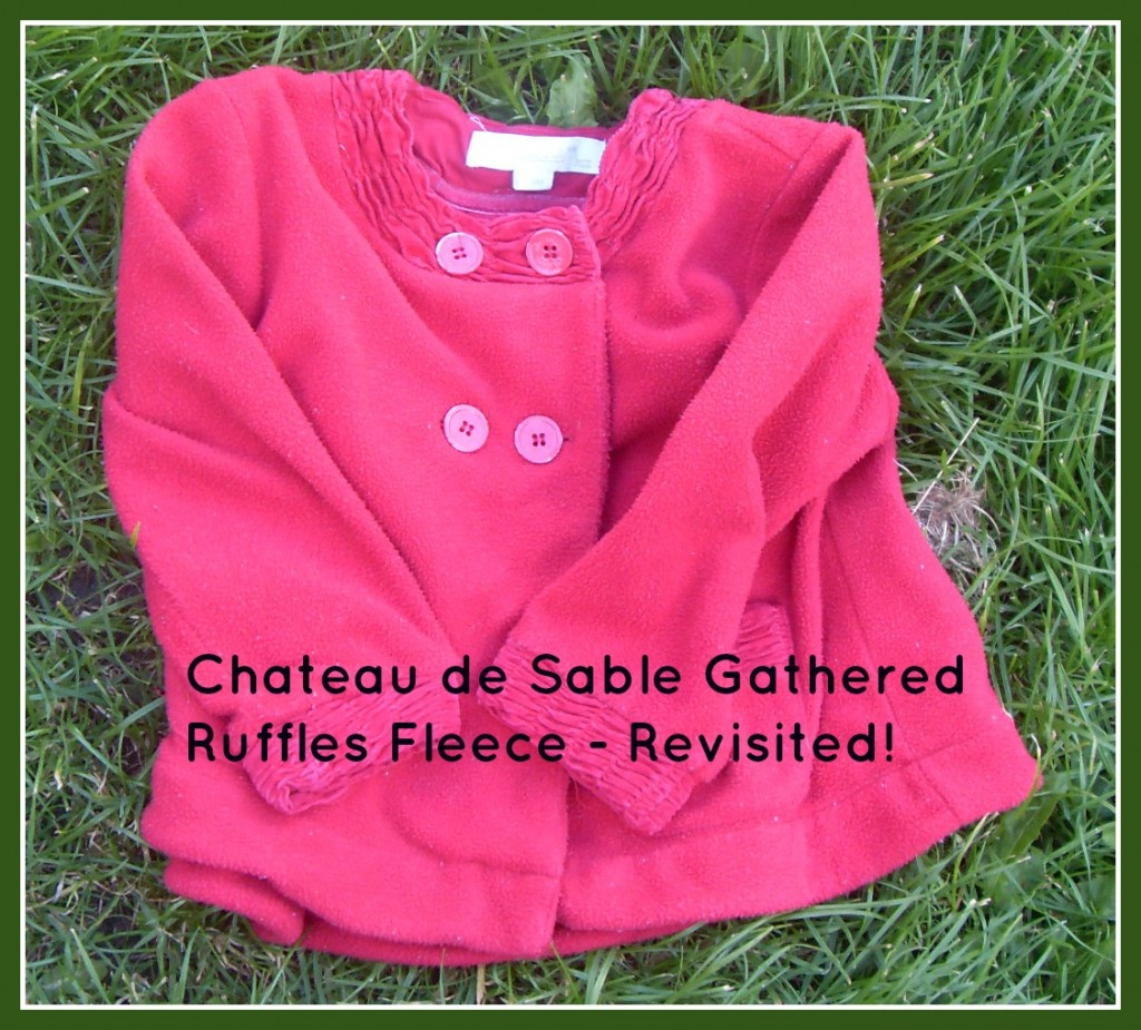 Chateau de Sable gathered ruffles fleece designer jacket
