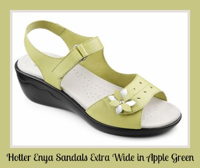 apple green hotter summer sandals