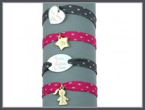 personalsied polka dot charm bracelet