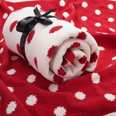 polka dot baby blanket from babatude online gift boutique