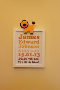 frame baby personalised print