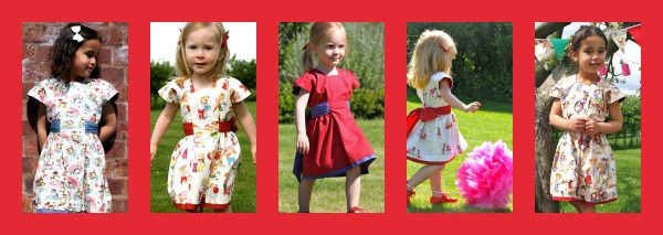 queen of hearts party dress by Jelly Lane originals