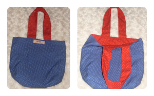 kid's mini polka dot tote bag
