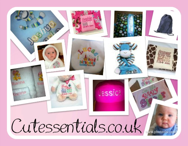 personalised embroidered gifts from cutessentials.co.uk