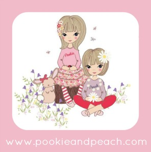 logo for pookie and peach