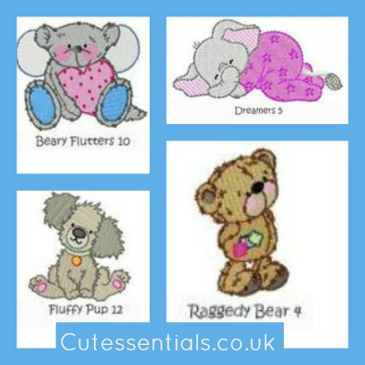 personalised embroidery designs from cutessentials.co.uk