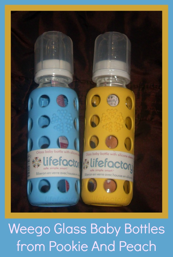 glass baby bottles from Pookie and peach