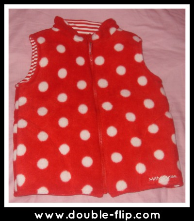 reversible polka dot body warmer