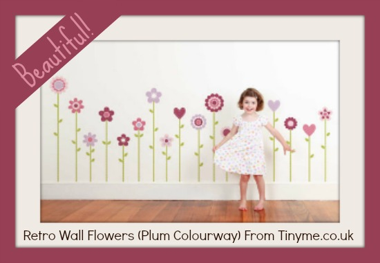 flower wall stickers from tinyme