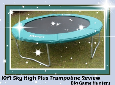 10ft sky high plus trampoline