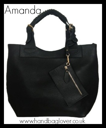 leather look tote bag from handbaglover