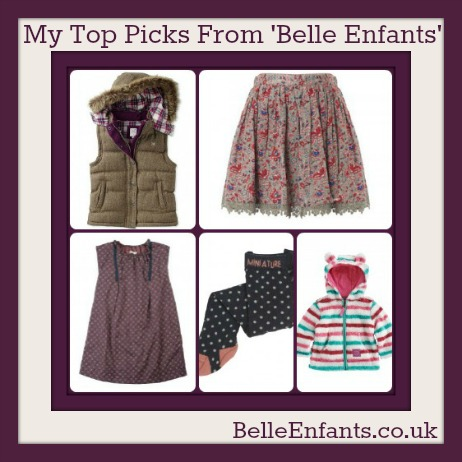 Clothing from belle enfants