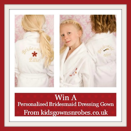 win a personalised children's bridesmaid dressing gown