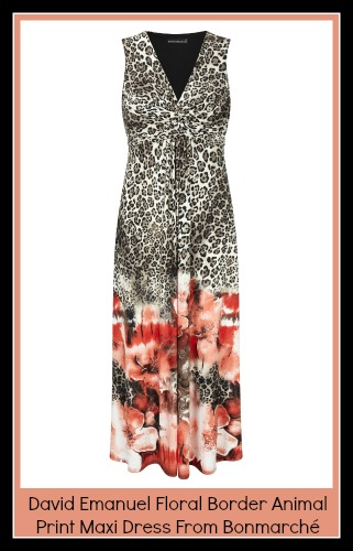 Animal print maxi dress from Bonmarché  by David emanuel
