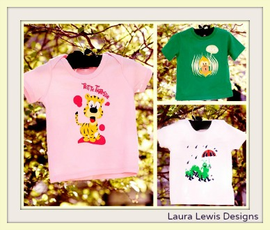 100% organic cotton t-shirts from Laura Lewis Designs