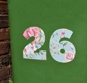 floral wheelie bin number stickers