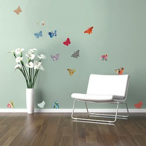 Superb  vintage butterfly wall stickers from Oakdene Designs
