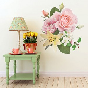 Great vintage floral wall sticker from Oakdene Designs