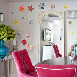 vintage floral flower wall stickers from oakdene Designs