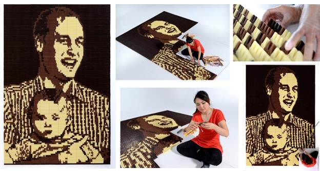 Toblerone chocolate Prince William and George portrait for Father's Day 2014