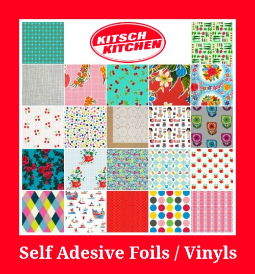 review of kitsch kitchen polka dot self adhesive foil