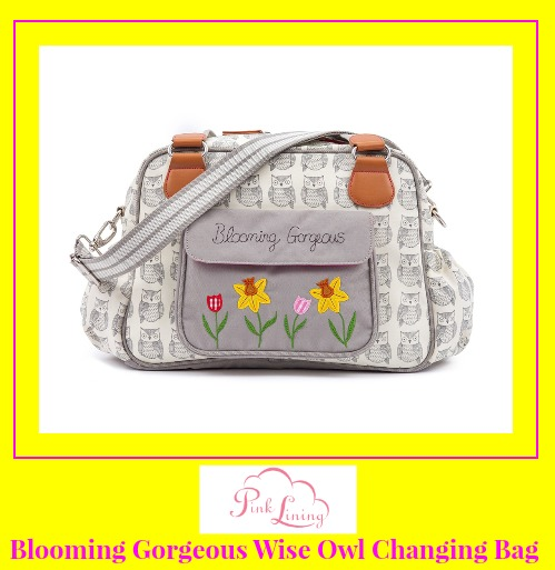 Review of Blooming Gorgeous wise owl changing bag from Pink Lining