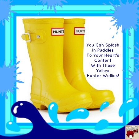 yellow hunter kids wellies