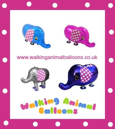 polka dot elephant walking animal balloons