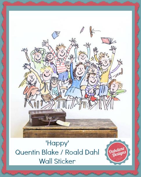 Roald Dahl Wall Stickers From Oakdene Designs