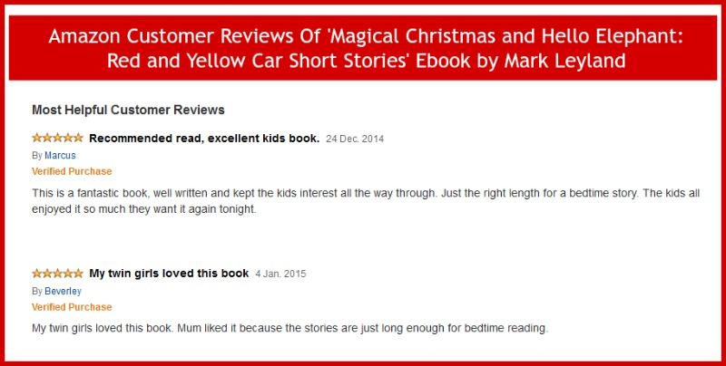 Magical Christmas and Hello Elephant: Red and Yellow Car Short Stories