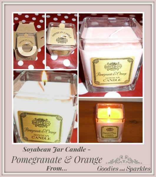 Review of Soyabean Jar Candle - Pomegranate & Orange from Goodiesandsparkles.London