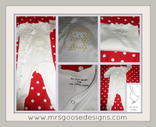 Organic Cotton Babygro From Mrs Goose Designs