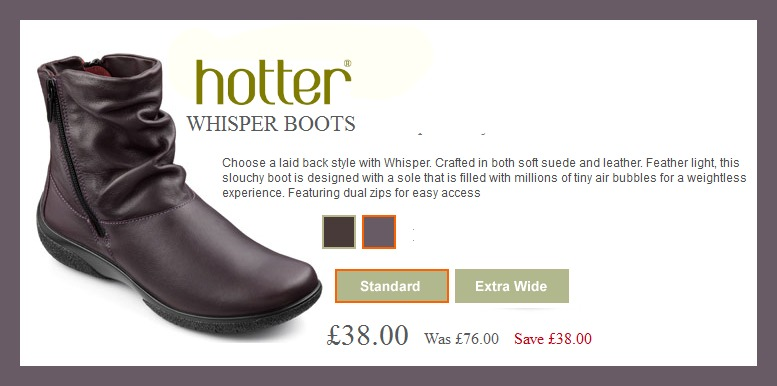 Review Of Hotter Whisper Boots In Plum