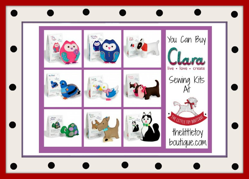 Clara create sewing kits at The Little Toy Boutique