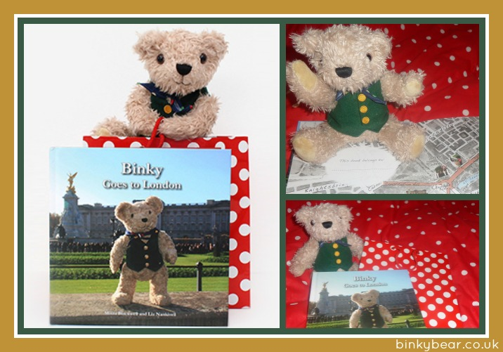 binky bear teddy and book review