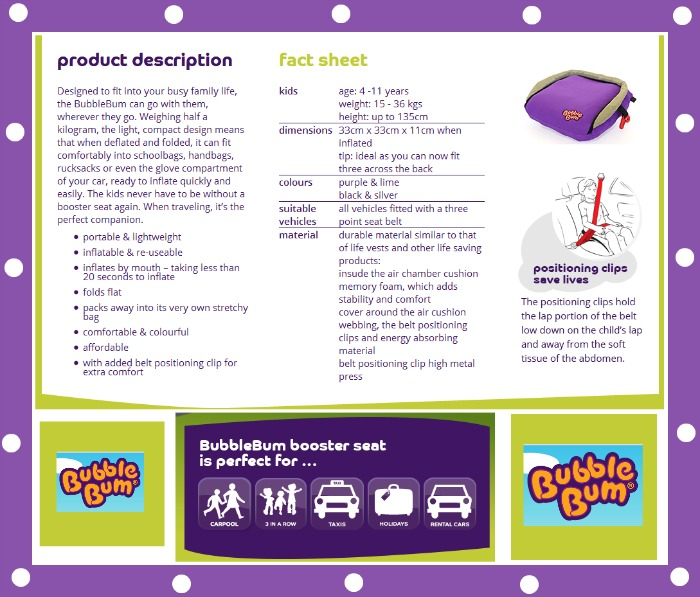 Review Of BubbleBum Inflatable Booster Seat