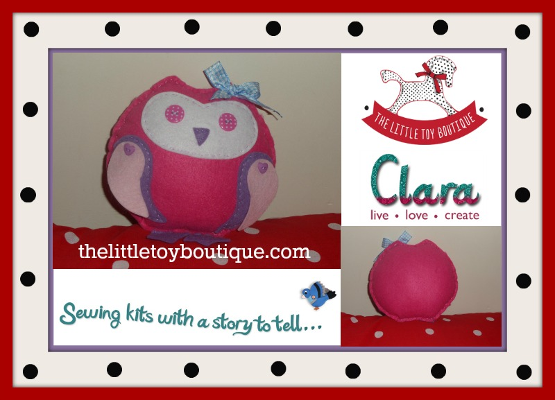Clara create owl sewing kit from The Little Toy Boutique