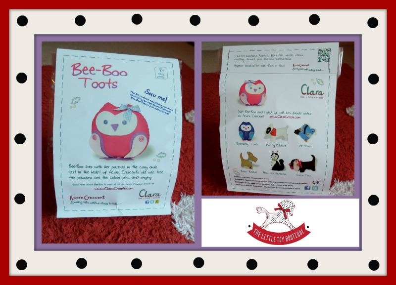 Clara owl sewing kit from The Little Toy Boutique