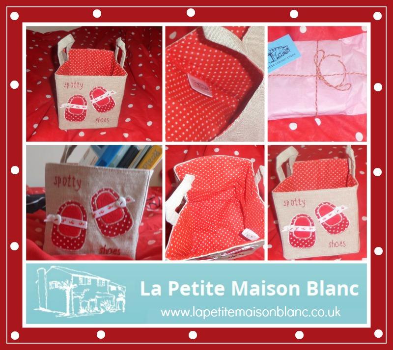 La Petite Maison Blanc linen storage basketx