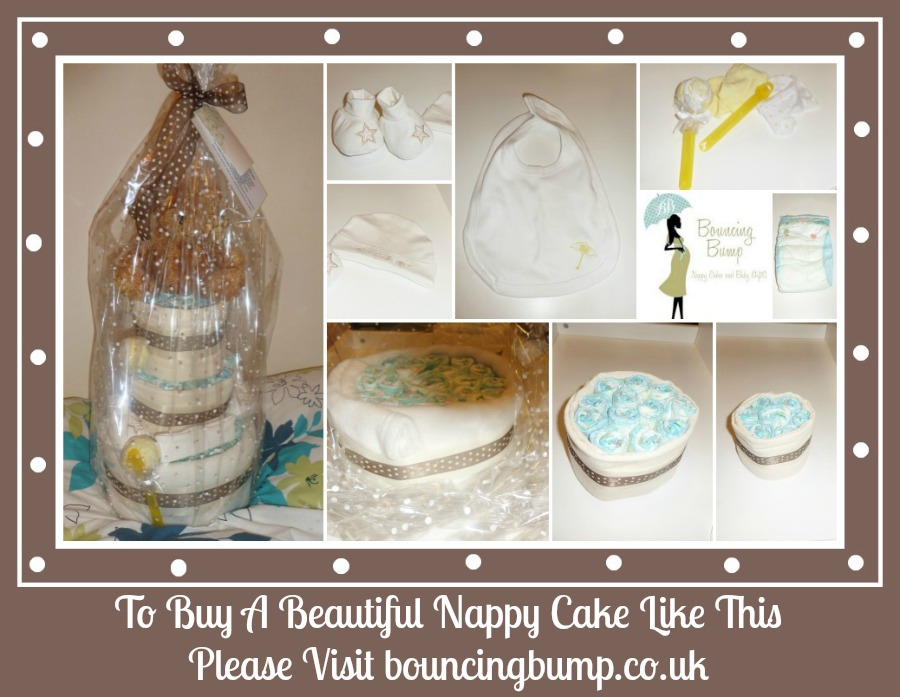 bouncing bump nappy cake