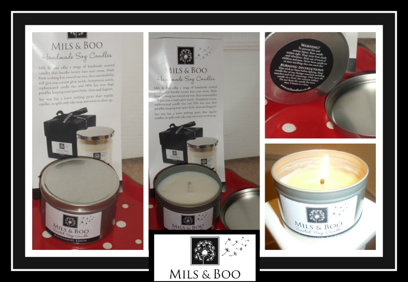 review of mils & boo Handmade Scented Soy Candles