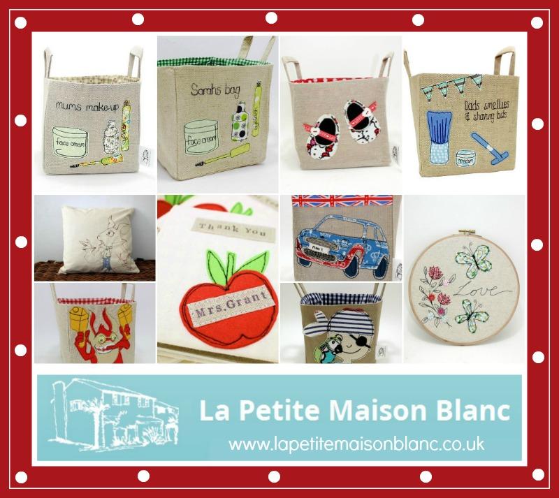La Petite Maison Blanc linen storage baskets