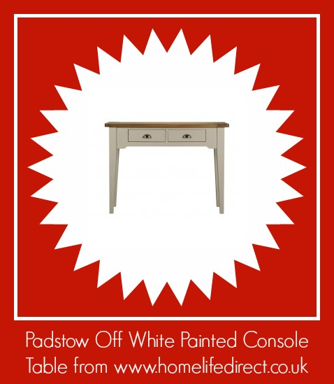 Padstow Off White Painted Console Table from http://www.homelifedirect.co.uk/padstow-off-white-painted-console-table