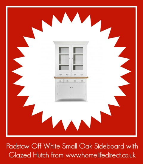 Padstow Off White Small Oak Sideboard with Glazed Hutch from http://www.homelifedirect.co.uk/padstow-off-white-small-sideboard-with-glazed-hutch