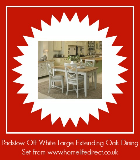 Padstow Off White Large Extending Oak Dining Set from http://www.homelifedirect.co.uk/padstow-off-white-large-extending-dining-set